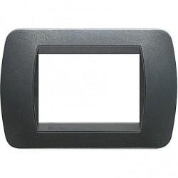 Bticino Livinglight L4803PA - Placca 3 moduli  colore ACCIAIO SCURO tecnopolimero