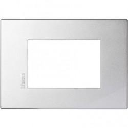 Bticino Axolute HW4803HC - placca Axolute Air 3 moduli - Tech - materiale metallo