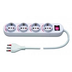 WIV 21200204 - Multipresa elettrica con 4 prese rotanti interruttore luminoso