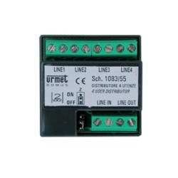 Urmet 1083/55 - Distributore 4 utenze