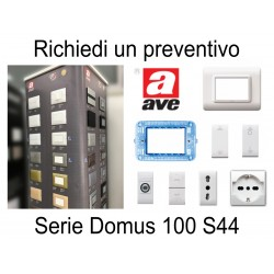 Ave Domus 100 S44 colore BIANCO - PREVENTIVO supporti placche interruttori prese accessori