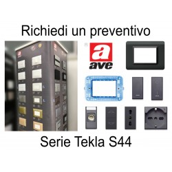 Ave TEKLA S44 colore NERO - PREVENTIVO supporti placche interruttori prese accessori
