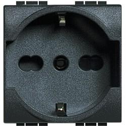 Bticino Livinglight - L4140/16 - Presa standard tedesco bipasso 10/16A Antracite
