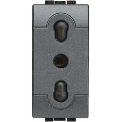 Bticino Livinglight - L4180 - Presa bipasso standard Italia bipolare 10/16A Antracite