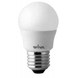 Lampada LED WIVA 12100219 - LED BASIC SFERA OPALE 4W E27 A+