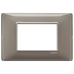 Vimar Plana - 14653.40 - Placca 3 moduli, tecnopolimero, Reflex cenere