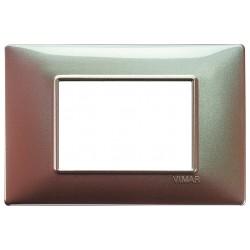 Vimar Plana - 14653.23 - Placca 3 moduli, tecnopolimero, marrone micalizzato
