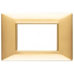 Vimar Plana - 14653.24 - Placca 3 moduli, tecnopolimero, oro lucido