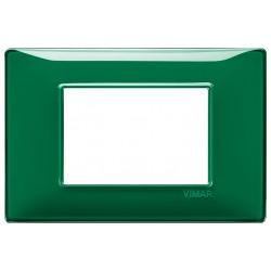 Vimar Plana - 14653.47 - Placca 3 moduli, tecnopolimero, Reflex smeraldo
