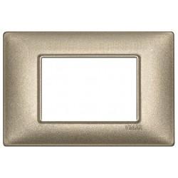 Vimar Plana - 14653.70 - Placca 3 moduli, metallo, bronzo metallizzato