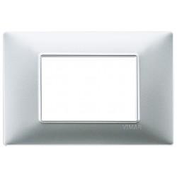 Vimar Plana - 14653.20 - Placca 3 moduli, tecnopolimero, argento opaco