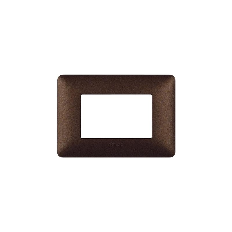 BTICINO MATIX AM4803TGG PLACCA 3 MODULI MARRONE CAFFE/'