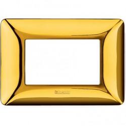 Bticino Matix - AM4803GOR - Placca 3 moduli - colore oro lucido