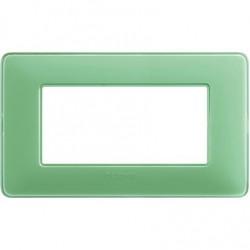 Bticino Matix - AM4804CVC - Placca 4 moduli - colore te verde