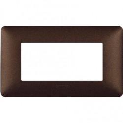 Bticino Matix - AM4804TGG - Placca 4 moduli - colore marrone caffè