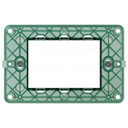 Vimar Plana - 14613 - Supporto a 3 moduli con viti per scatole rettangolari