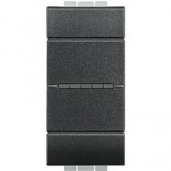 Bticino Livinglight - L4055N - Pulsante 1P NO 10A 250V - assiale - antracite