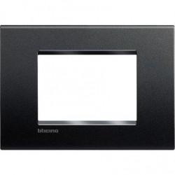 Bticino Livinglight - LNA4803AR - Placca quadra 3 moduli - antracite