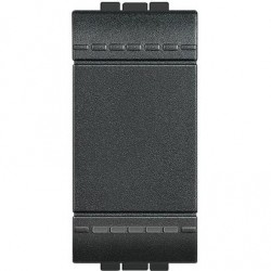 Bticino livinglight - L4003A - Deviatore 1P 16AX 250V con morsetti automatici - Antracite