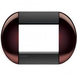 Bticino Livinglight - LNB4803TW - Placca tonda 3 moduli - twin brown