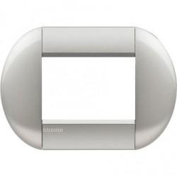 Bticino Livinglight - LNB4803TE - Placca tonda 3 moduli - tech