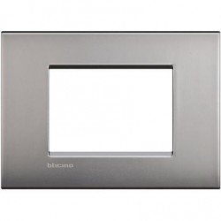 Bticino Livinglight - LNC4803NK - Placca AIR 3 moduli - nichel satinato