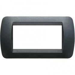 Bticino Livinglight - L4804PA - Placca 4 moduli tecnopolimero colore acciaio scuro