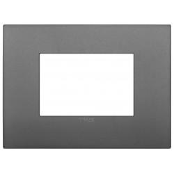 Viimar Arkè - 19653.72 - Placca Classic 3 moduli, tecnopolimero, grigio
