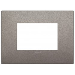 Vimar Arkè - 19653.04 - Placca Classic 3 moduli, metallo, titanio matt
