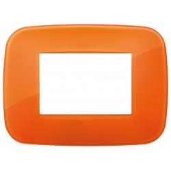 Vimar Arkè - 19683.63 - Placca Round 3 moduli, tecnopolimero, Reflex orange