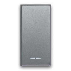 AVE Allumia S44 - Deviatore 1P 16AX 1 mod 250V illuminabile con inserimento lampada - Tasto intercambiabile