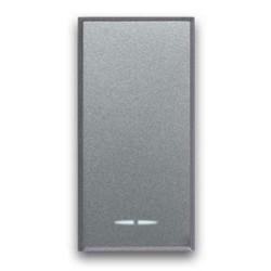 AVE Allumia S44 - Pulsante 1P 10A 1 mod 250V illuminabile con inserimento lampada - Tasto intercambiabile